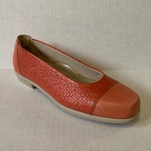 SAS 7 Maui Ballet Flats Melon Coral Woven Leather